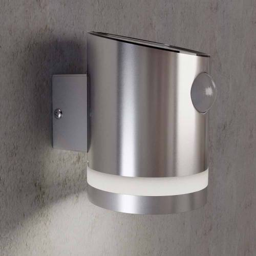 Solar Stainless Steel PIR Sensor Outdoor Wall Light