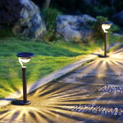 Stainless Steel Round Highlight LED Solar Pathway Lighting