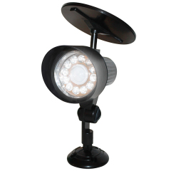 Round Solar Powered Outdoor Wall Spotlights With Motion Sensor