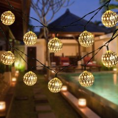 Solar Powered Strand Lighting for Christmas Outdoor Garden Party Home Decoration