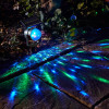 Solar Color Changing Revolving LED Spotlight Garden Party Stake Light