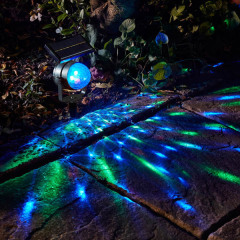 Garden Decorative Solar Revolving LED Spotlight For Party use