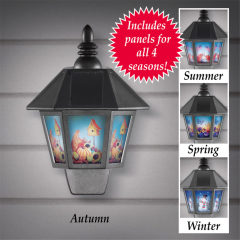 Plastic Garden Solar Four Seasons Wall Lighting Without Sensor