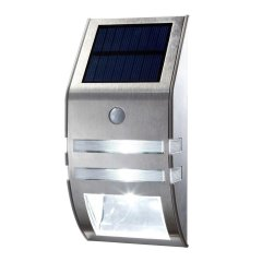 Stainless Steel Solar Powered Security Wall Light With Motion Sensor