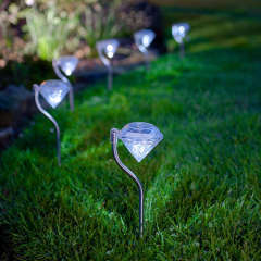 Solar Stainless Steel Diamond Lawn Night Lighting