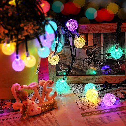 Solar Fairy Bubble Crystal Ball String Lights
