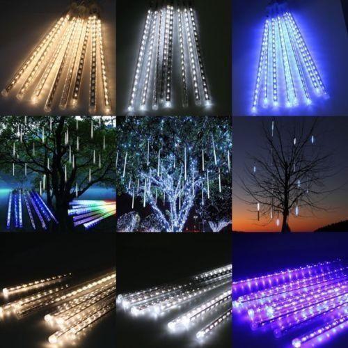 Outdoor Solar Powered String Lights LED Meteor Shower Rain