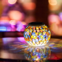 Color Changing Mosaic Glass Table Lamps For gift