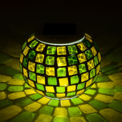 Mosaic Outdoor Waterproof Solar Night Lights for Home Decorations