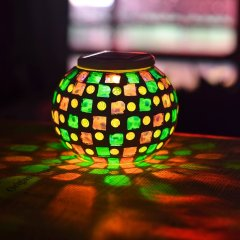 Mosaic Outdoor Glass Solar Night Table Glass Decoration lamp