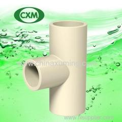 CPVC equal tee with ASTM D2846 standard