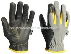 NMSAFETY 13 gauge cut resistant level 5 HPPE liner coated black PU safety glove