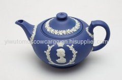 Chinese ivory ceramic porcelain teapot for wedding