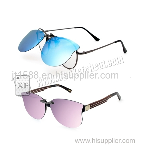 Personality Perspective Sunglasses For Backside Marked Playing Cards Suitable For Men Or Women