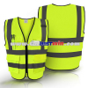 2018 Warning Vest/Safety Warning Vest factory/High visibilty yellow reflective vest with pockets