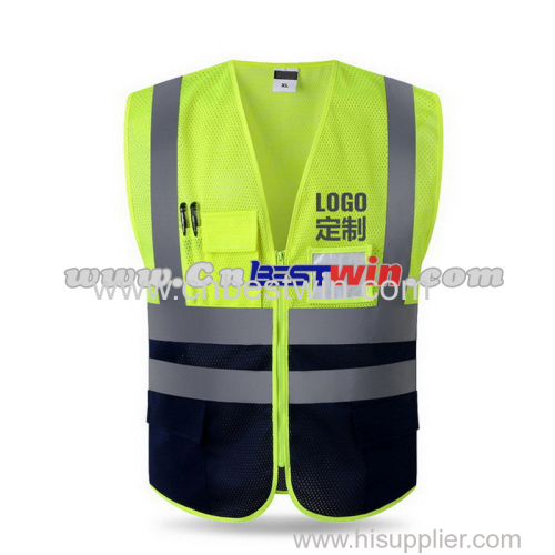 Dual color safety vest with pockets China Factory/Manufacturer/Chinese Factory for Dual color safety vest with pockets