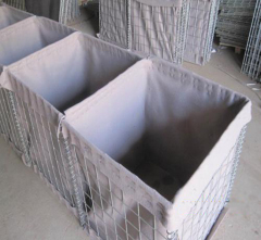 military welded hesco barrier Galvanized welded rock basket wire mesh