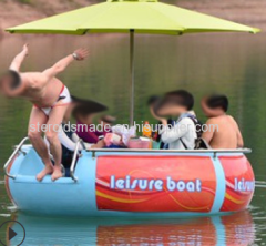 Chinese Hot Sale Water Park Use Pedal BBQ Donut Boat