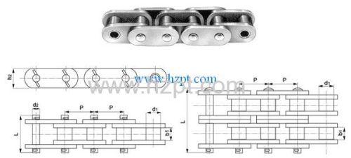 Heavy Duty Straight Sidebar Roller Chain Z4020 Z4824 Z5628 For Drawbench