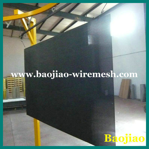 Security screen powder caoted metal mesh