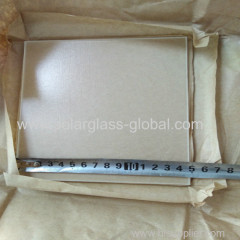 Low iron tempered solar prismatic glass small size