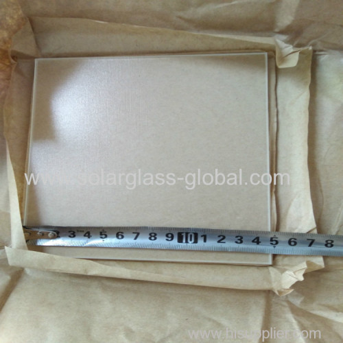 Small size ultra clear tempered solar glass 170*170mm