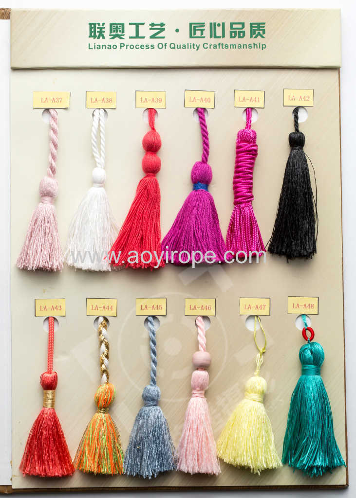 Braided Tieback Tassel for decoration