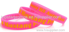 High quality silicone wristbands for fundraising