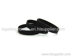 Concave black silicone wristbands for concert