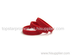 Concave siliocne wristbands for charity