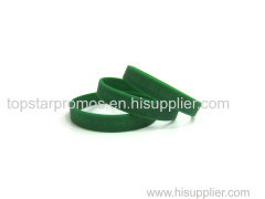 Green Debossed silicone wristbands for Fundraising