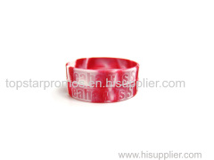 Debossed swriled silicone wristbands for Organizations