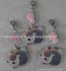Silk screen printed cute cell phone charms