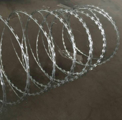 High security galvanized razor wire fitting fence or wall