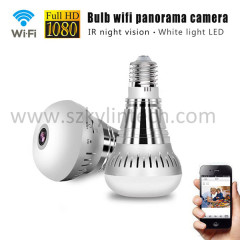 wifi light bulb camera 360 degree fisheye panoramic camera