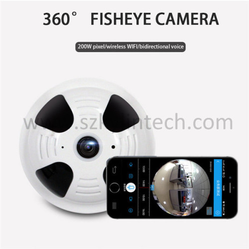 360 degree panoramic fisheye wireless smoke detector hidden camera
