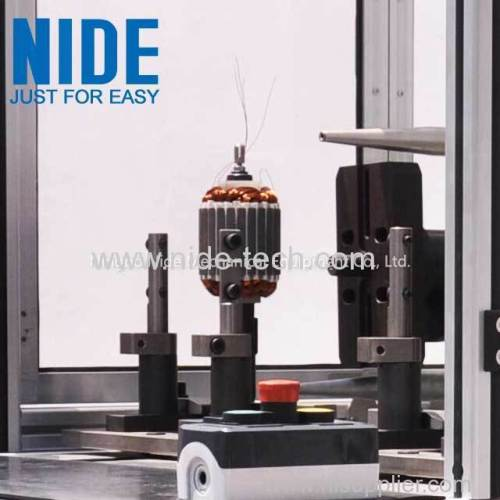 Single flyer and double stations BLDC motor armature winding machine