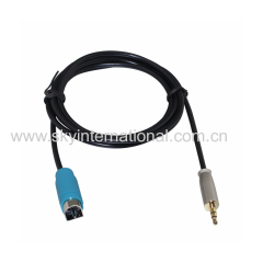3.5MM Metal Plug AUX In Cable For Alpine KCE-236B CDA9886 9887 9871 Audio Parts