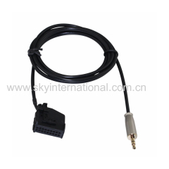 VW 18PIN to 3.5mm Aux Cable CD Change Cable Metal Plug
