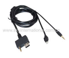 Music Interface To 8Pin-Lighting Ipod Iphone Aux Cable Cord For Hyundai Kia 150CM