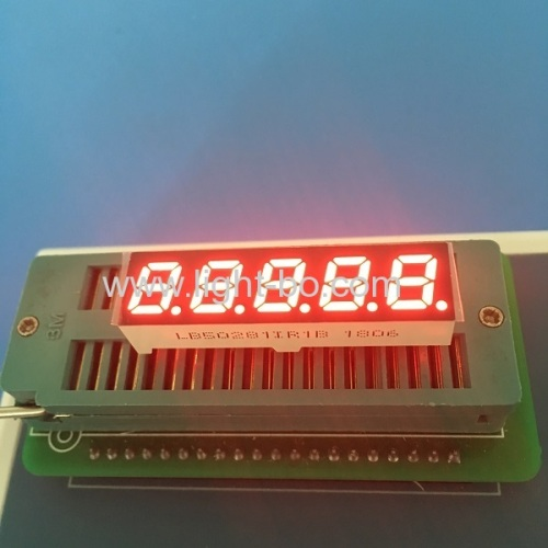 Stable performance super red 0.28 5 digit 7 segment led display common anode for instrument panel