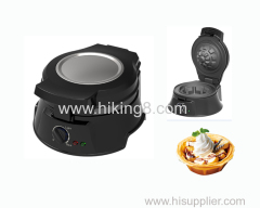 Black Electric home used Waffle Bowl maker