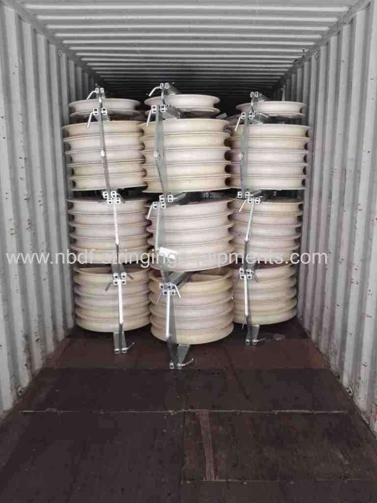 Bundled Conductor Pulleys exported for overhead transmission line stringing