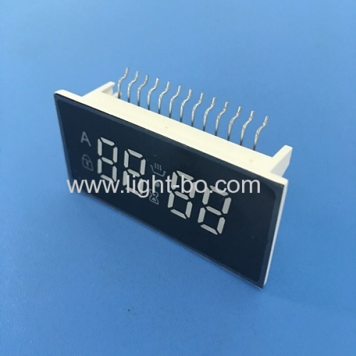 Customized ultra bright amber 4 digit 7 segment led display common cathode for oven