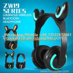 Luminous Ear Cat Bluetooth Headphone