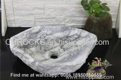 Klala Grey marble bathroom random sink natural stone wash basin