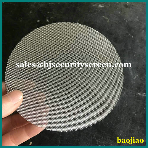 304 Stainless Steel Wire Mesh Filter Disc Screen
