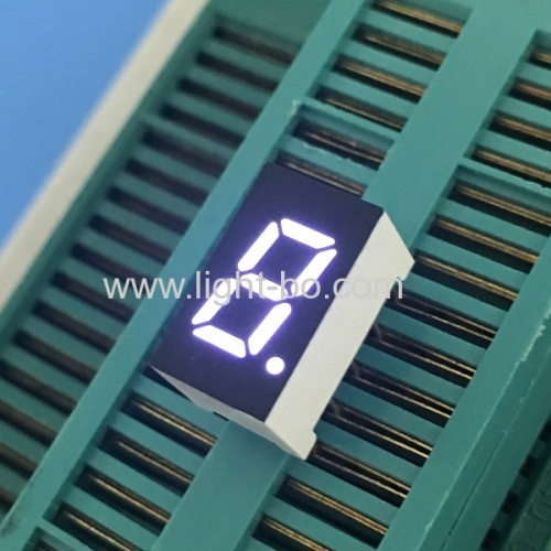 Ultra bright white 7.62mm single digit 7 segment led display common cathode