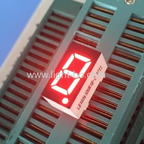 Ultra bright white single digit 0.36 common anode 7 segment led display for instrument panel