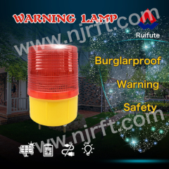 Red waterproof road safety solar warning light
